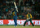 Tillakaratne Dilshan hits into the leg side, South Africa v Sri Lanka, World T20 2016, Group 1, Delhi, March 28, 2016