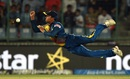 Jeffrey Vandersay leaps for a catch, South Africa v Sri Lanka, World T20 2016, Group 1, Delhi, March 28, 2016