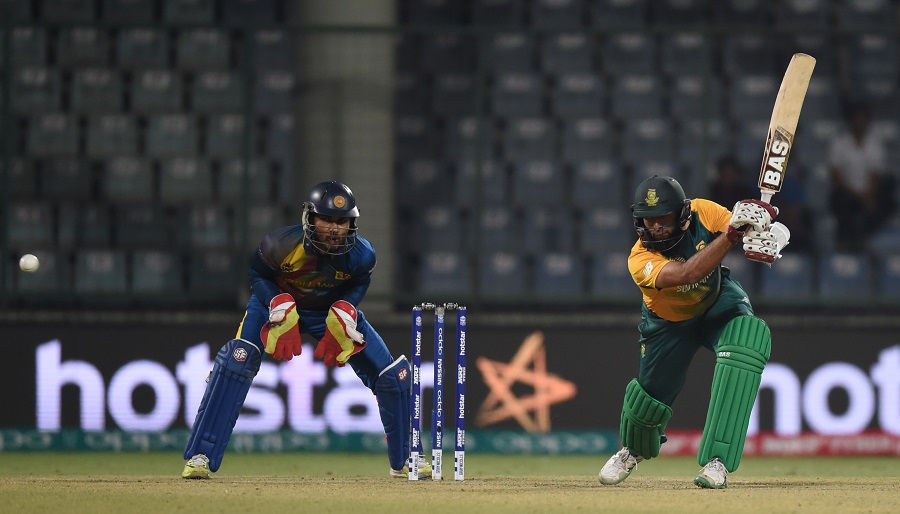 Hashim Amla, though, took the lead in South Africa's chase with an unbeaten 56 off 52 balls