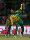 Aaron Phangiso in his delivery stride, South Africa v Sri Lanka, World T20 2016, Group 1, Delhi, March 28, 2016