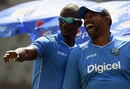 Darren Sammy and a high-spirited Phil Simmons at practice, India v West Indies, World T20 2016 semi-final, Mumbai, March 30, 2016