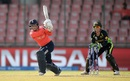 Tammy Beaumont hits through the on side, Australia v England, Women's World T20 2016, 1st semi-final, Delhi, March 30, 2016