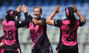 Morna Nielsen celebrates the wicket of Hayley Matthews, New Zealand v West Indies, Women's World T20, semi-final, Mumbai, March 31, 2016