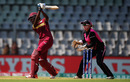 Britney Cooper plays powerfully down the ground, New Zealand v West Indies, Women's World T20, semi-final, Mumbai, March 31, 2016