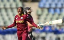 Afy Fletcher is animated in her celebrations after dismissing Suzie Bates, New Zealand v West Indies, Women's World T20, semi-final, Mumbai, March 31, 2016
