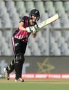Amy Satterthwaite hits down the ground, New Zealand v West Indies, Women's World T20, semi-final, Mumbai, March 31, 2016