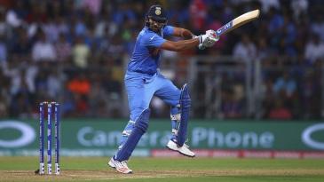 Rohit Sharma plays a cut