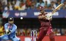 Johnson Charles powers the ball through the off side, India v West Indies, World T20 2016, semi-final, Mumbai, March 31, 2016