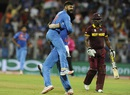 Virat Kohli removed Johnson Charles off his first ball, India v West Indies, World T20 2016, semi-final, Mumbai, March 31, 2016