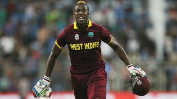 Andre Russell is pumped after taking West Indies into the final
