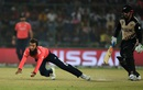 Moeen Ali throws himself forward to stop the ball, England v New Zealand, World T20, Semi-final, Delhi, March 30, 2016