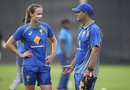 Ellyse Perry has a chat with Matthew Mott, Kolkata, April 2, 2016