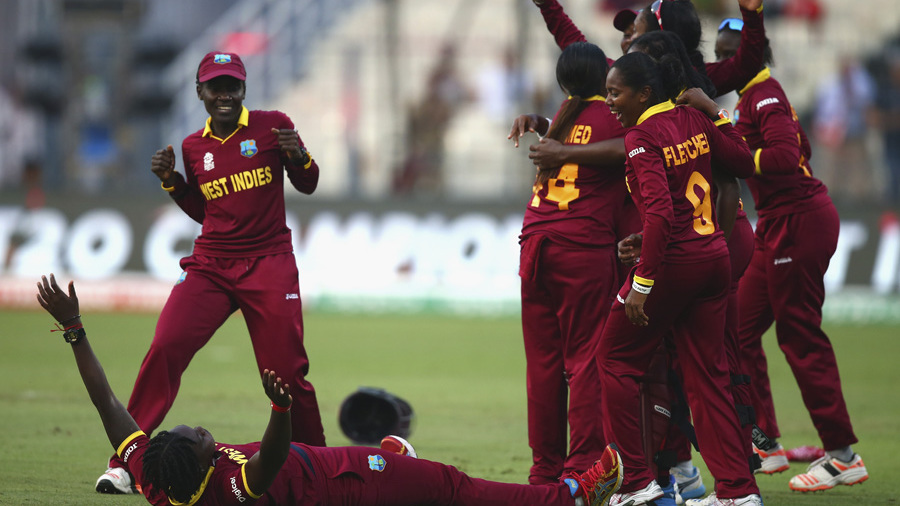 West Indies Women celebrate in their inimitable style
