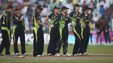 Australia Women are distraught after their loss in the final