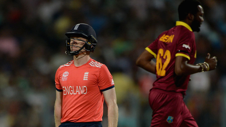 The other end though wasn't quite as solid. Eoin Morgan misread a googly from Badree and England were 23 for 3 in the fifth over