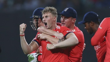 Joe Root picked up two wickets in three balls, including Chris Gayle
