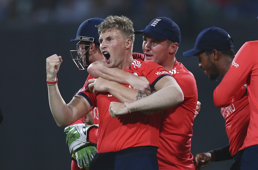 And England got an explosive start to their defence as Root dismissed Johnson Charles and Chris Gayle in the second over
