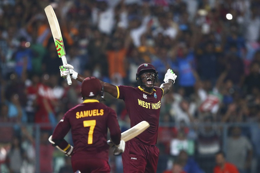 But the spotlight was stolen by Carlos Brathwaite in the final over. West Indies needed 19 off six balls to win, and he hit four back-to-back sixes