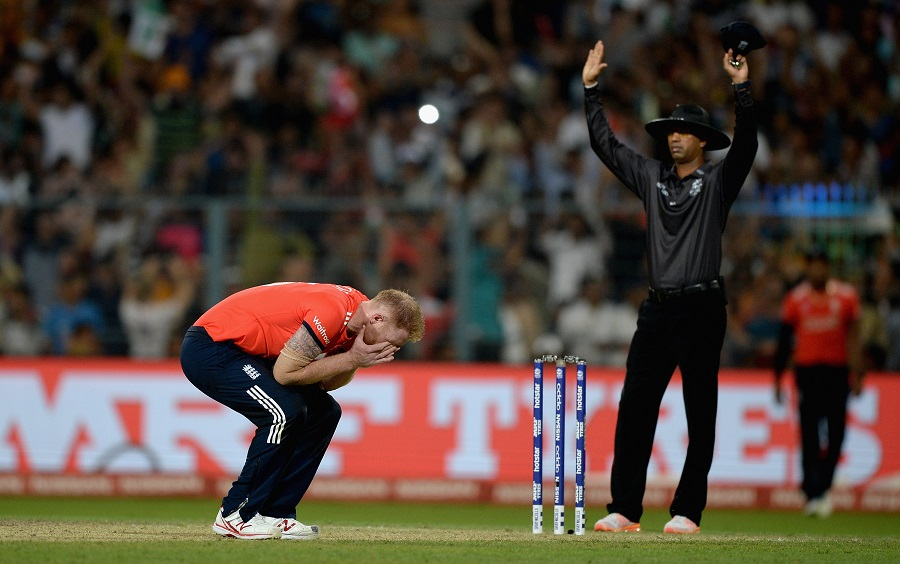 Ben Stokes, the bowler who was given the final over, was left absolutely distraught