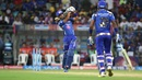 Lendl Simmons hits down the ground, Mumbai Indians v Rising Pune Supergiants, IPL 2016, Mumbai, April 9, 2016