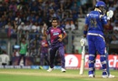 Rajat Bhatia gave away just 10 runs in four overs and took the big wicket of Kieron Pollard, Mumbai Indians v Rising Pune Supergiants, IPL 2016, Mumbai, April 9, 2016