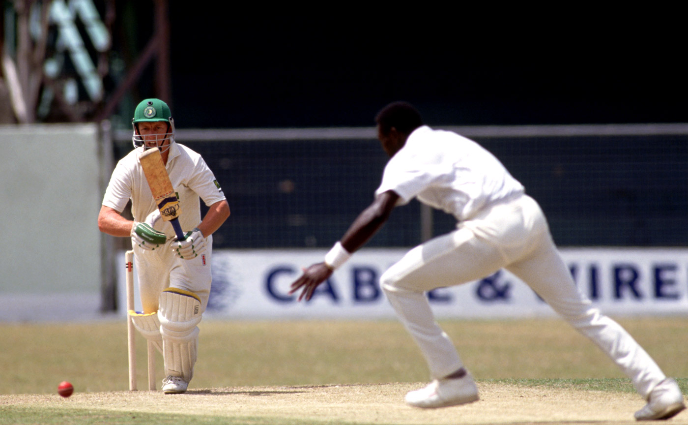 Andrew Hudson on his way to 163 on Test debut