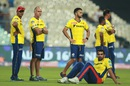 Daredevils support staff members look on as the players warm-up, Kolkata Knight Riders v Delhi Daredevils, IPL 2016, Kolkata, April 10, 2016