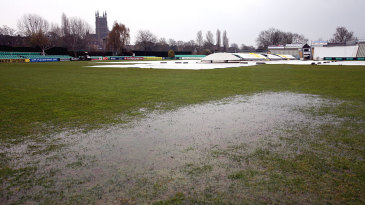 A waterlogged outfield again prevented play at New Road
