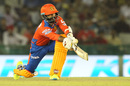 Dinesh Karthik gets down on one knee to sweep, Kings XI Punjab v Gujarat Lions, IPL 2016, Mohali, April 11, 2016