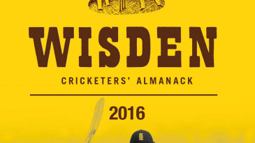 The cover of the 2016 Wisden Cricketers' Almanack