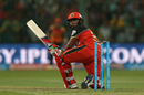 Sarfaraz Khan plays a cheeky scoop shot en route to 35 off 10, Royal Challengers Bangalore v Sunrisers Hyderabad, IPL 2016, Bangalore, April 12, 2016