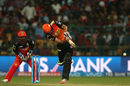 Moises Henriques drills one through the leg side, Royal Challengers Bangalore v Sunrisers Hyderabad, IPL 2016, Bangalore, April 12, 2016