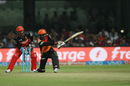 Ashish Reddy executes the slog sweep, Royal Challengers Bangalore v Sunrisers Hyderabad, IPL 2016, Bangalore, April 12, 2016