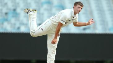Cameron Boyce sends down a delivery