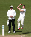 Jake Ball completed a five-wicket haul, Nottinghamshire v Surrey, Specsavers County Championship, Division One, Trent Bridge, 4th day, April 13, 2016