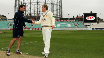 Michael Yardy and Rory Hamilton-Brown at the toss