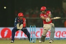 Mohit Sharma slashes through the off side, Delhi Daredevils v Kings XI Punjab, IPL 2016, Delhi, April 15, 2016