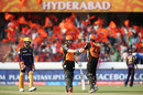 Eoin Morgan and Naman Ojha shared a 67-run stand to revive Sunrisers' innings, Sunrisers Hyderabad v Kolkata Knight Riders, IPL 2016, Hyderabad, April 16, 2016