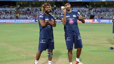 The master and the protégé: Lasith Malinga and Jasprit Bumrah have a chat