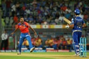Dhawal Kulkarni dismissed Rohit Sharma early, Mumbai Indians v Gujarat Lions, IPL 2016, Mumbai, April 16, 2016