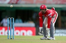 Wriddhiman Saha gets in position to collect the ball, Kings XI Punjab v Rising Pune Supergiants, IPL 2016, Mohali, April 17, 2016