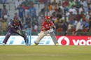 M Vijay gets in position to execute the lap sweep, Kings XI Punjab v Rising Pune Supergiants, IPL 2016, Mohali, April 17, 2016