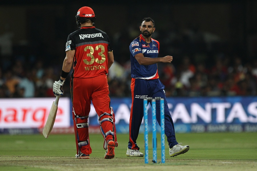 Mohammed Shami picked up 2 for 34 in four overs, Royal Challengers Bangalore  v Delhi
