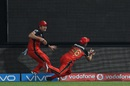 David Wiese dives after Shane Watson throws the ball to him to complete a catch to dismiss Shreyas Iyer, Royal Challengers Bangalore v Delhi Daredevils, IPL 2016, Bangalore, April 17, 2016