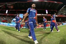 Mohammed Shami walks out to the field, Royal Challengers Bangalore v Delhi Daredevils, IPL 2016, Bangalore, April 17, 2016