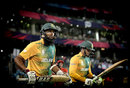 Hashim Amla and Quinton de Kock walk out to bat, South Africa v Sri Lanka, World T20 2016, Group 1, Delhi, March 28, 2016