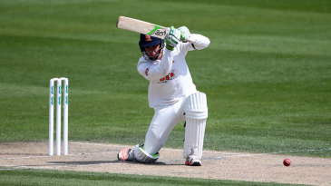 Essex's Dan Lawrence plays a cover drive