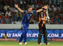 Tim Southee makes an animated appeal, Sunrisers Hyderabad v Mumbai Indians, IPL 2016, Hyderabad, April 18, 2016