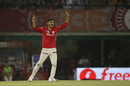 Axar Patel took two wickets as Kolkata Knight Riders approached the target, Kings XI Punjab v Kolkata Knight Riders, IPL 2016, Mohali, April 19, 2016