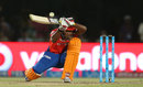 Akshdeep Nath hurries under a low full toss, Gujarat Lions v Sunrisers Hyderabad, IPL 2016, Rajkot, April 21, 2016